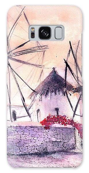 Ancient Windmills Of Mykonos Greece Galaxy Case