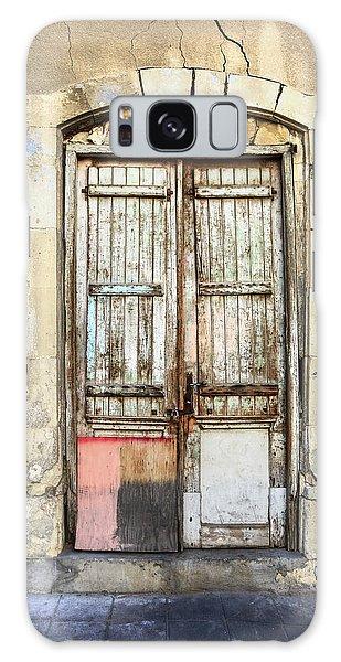 Ancient Wooden Door In Old Town. Limassol. Cyprus Galaxy Case