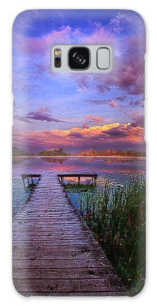 Galaxy Case featuring the photograph And Silence by Phil Koch