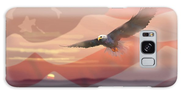 And The Eagle Flies Galaxy Case