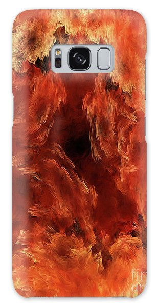 Galaxy Case featuring the digital art Andee Design Abstract 59 2017 by Andee Design