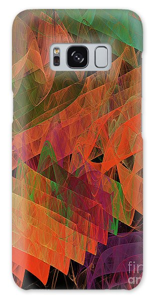 Galaxy Case featuring the digital art Andee Design Abstract 62 2017 by Andee Design