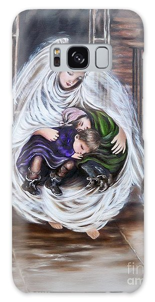 Angel And The Orphans Galaxy Case by Sigrid Tune