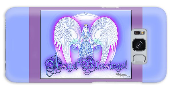 Galaxy Case featuring the digital art Angel Blessings #196 by Barbara Tristan