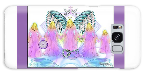Galaxy Case featuring the digital art Angel Cousins #198 by Barbara Tristan