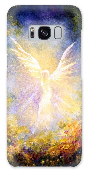 Angel Descending Galaxy Case by Marina Petro