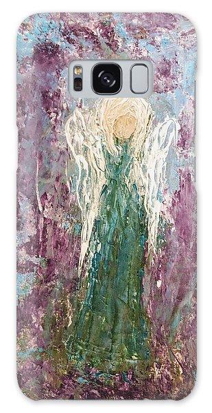 Angel Draped In Hydrangeas Galaxy Case
