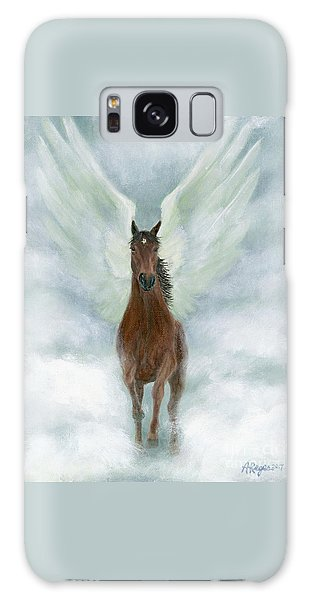 Angel Horse Running Free Across The Heavens Galaxy Case