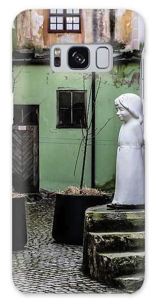Galaxy Case - Angel In Courtyard by Steven Richman