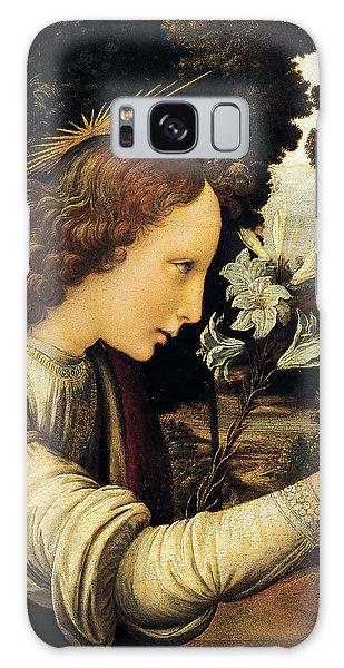 Annunciation Galaxy Case - Angel by Leonardo Da Vinci