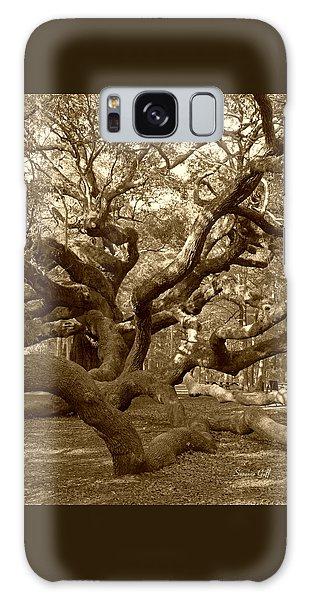 Angel Oak In Sepia Galaxy Case