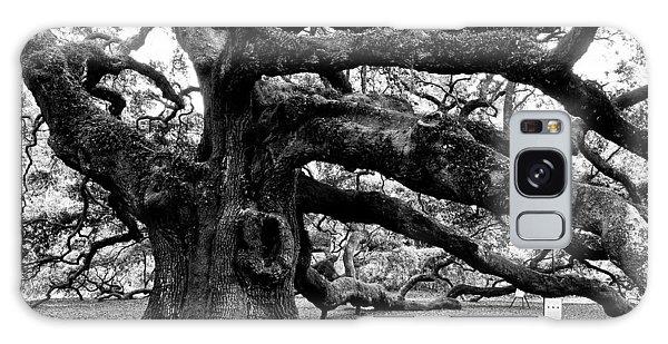 Angel Oak Tree 2009 Black And White Galaxy Case