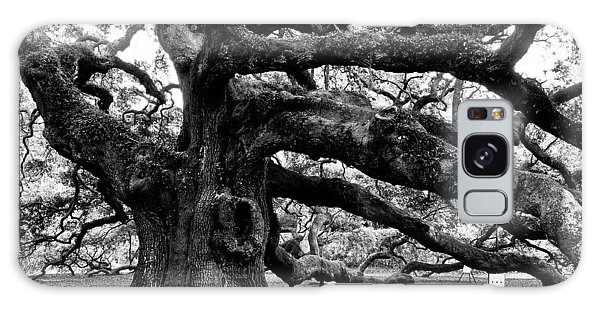 Angel Oak Tree 2009 Black And White Galaxy Case