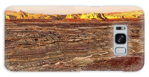 Galaxy Case featuring the photograph Angel Peak Badlands - New Mexico - Landscape by Jason Politte
