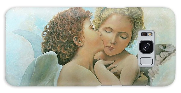 Galaxy Case featuring the painting Bouguereau Angels- My Adaptation by Rosario Piazza