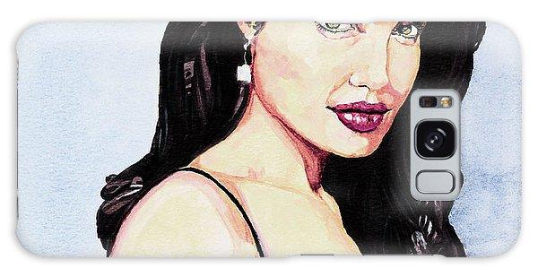 Angelina Jolie Portrait Galaxy Case