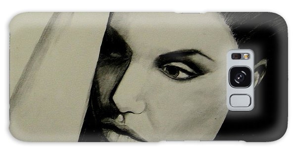 Galaxy Case featuring the drawing Angelina by Michelle Dallocchio