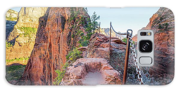 Angels Landing Hiking Trail Galaxy Case by JR Photography
