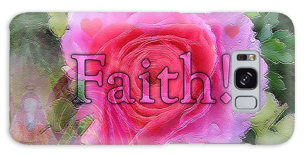 Angels Pink Rose Of Faith Galaxy Case by Barbara Tristan