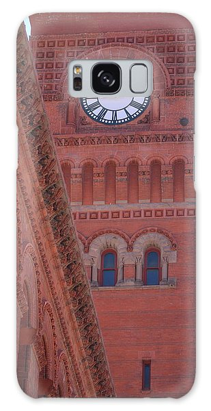 Angled View Of Clocktower At Dearborn Station Chicago Galaxy Case