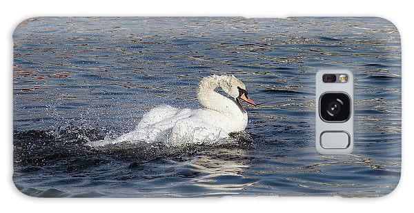 Angry Swan On The Water Galaxy Case by Michal Boubin