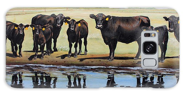 Pasture Galaxy Case - Angus Reflections by Toni Grote