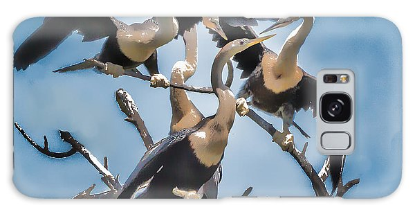 Anhinga Feeding Time Galaxy Case