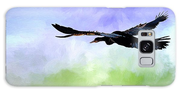 Anhinga In Flight Galaxy Case