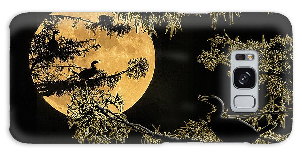 Anhingas In Full Moon Galaxy Case by Bonnie Barry