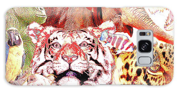 Galaxy Case - Animal Collage Digital Art by A Gurmankin