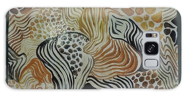 Animal Print Floor Cloth Galaxy Case by Judith Espinoza