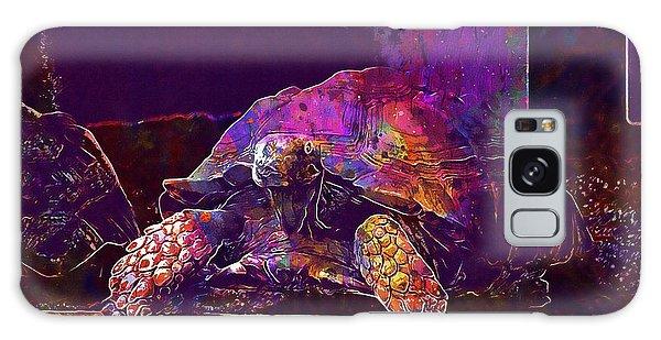Galaxy Case featuring the digital art Animal Turtle Zoo  by PixBreak Art