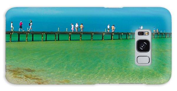 Anna Maria Island Historic City Pier Panorama Galaxy Case