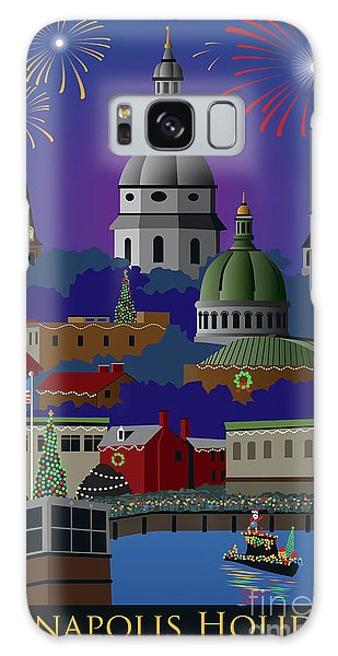 Annapolis Holiday With Title Galaxy Case