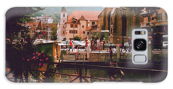 Annecy France Village Scene Galaxy Case