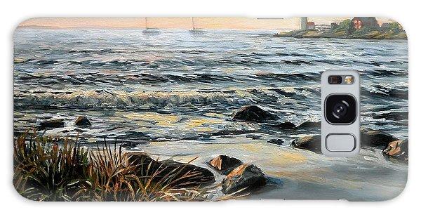 Annisquam Beach And Lighthouse Galaxy Case