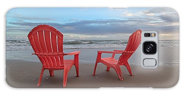 Adirondack Chair Galaxy Case - Another Busy Beach Day by Betsy Knapp