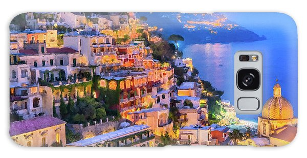 Another Glowing Evening In Positano Galaxy Case