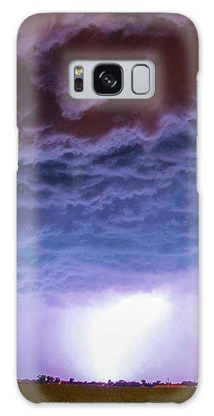 Another Impressive Nebraska Night Thunderstorm 007 Galaxy Case