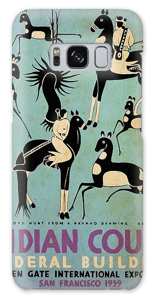 Antelope Hunt From A Navaho Drawing Exhibition - Vintage Poster Vintagelized Galaxy Case