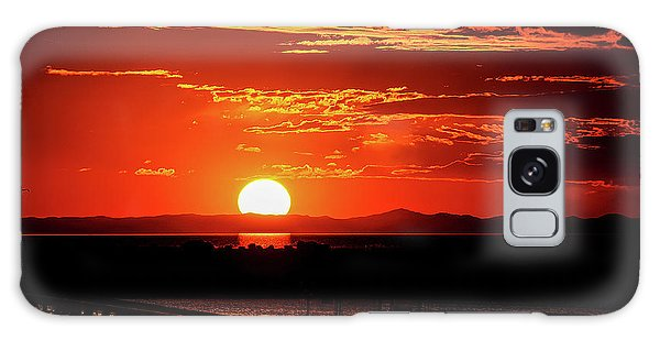 Antelope Island Marina Sunset Galaxy Case