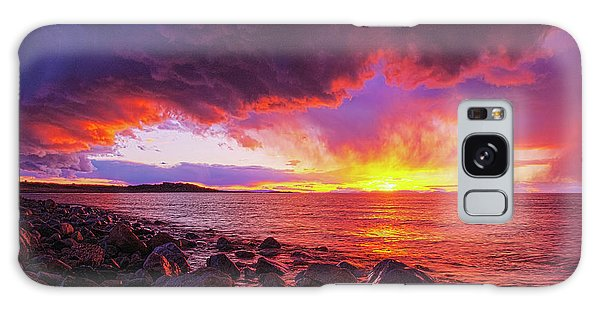 Antelope Island Sunset Galaxy Case