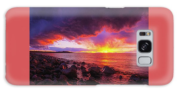 Antelope Island Sunset Galaxy Case