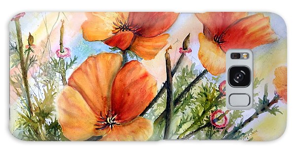 Antelope Valley Poppy Fields Galaxy Case