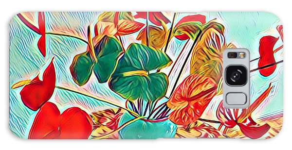 Anthurium Bouquet Of The Day - Multiple Color Galaxy Case