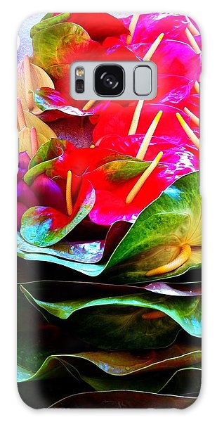 Anthurium  Galaxy Case