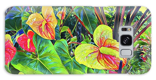 Anthuriums Yellow And Red Galaxy Case