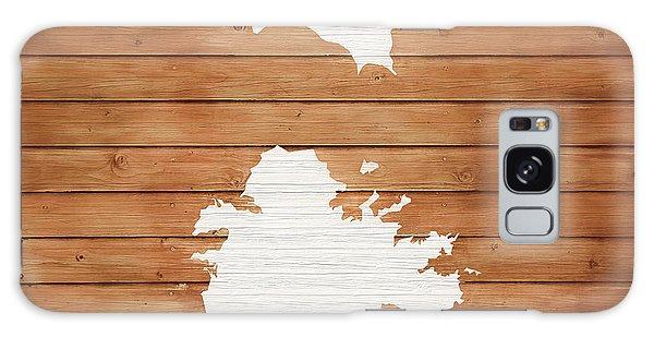 Traveler Galaxy Case - Antigua Rustic Map On Wood by Dan Sproul