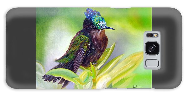 Antillean Crested Hummingbird Galaxy Case by LaVonne Hand