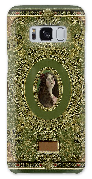 Antique Book Cover With Cameo - Green And Gold Galaxy Case